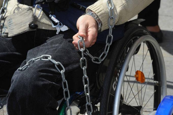protesta disabili