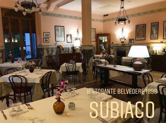 La sala del ristorante Belvedere
