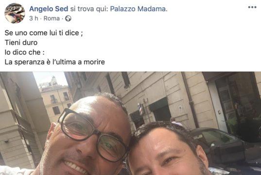 Angelo Sed con Matteo Salvini
