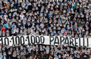 Striscione contro Paparelli