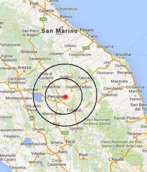Terremoto a Perugia