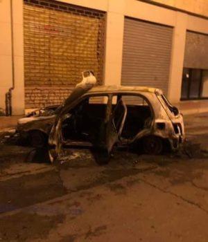L'auto di Fulvia Gravame incendiata