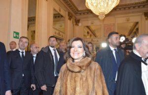 Maria Elisabetta Alberti Casellati in pelliccia