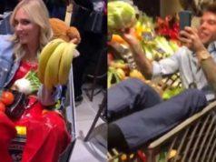 Fedez e la festa al supermercato