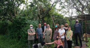 Alcuni attivisti al parco Lambro